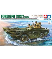 1:35 Американски амфибиен автомобил Jeep с фотец части (U.S. Ford G.P.A. Amphibian Jeep w/ PE Parts) - 3 фигури
