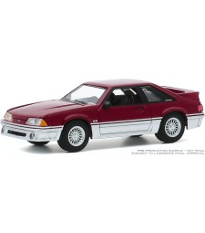 Hot Hatches Series 1 - 1988 Ford Mustang GT - Medium Scarlet and Silver Solid Pack