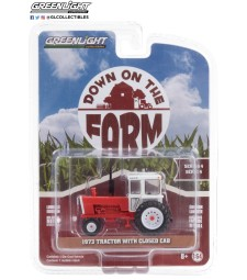 Down on the Farm Series 4 - 1973 Tractor with Closed Cab - Red and White Solid Pack