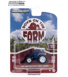 Down on the Farm Series 4 - 1982 Ford 5610 Tractor with Front Loader - Blue and Black Solid Pack