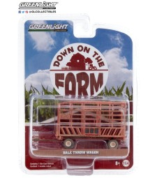 Down on the Farm Series 4 - Bale Throw Wagon - Weathered Solid Pack