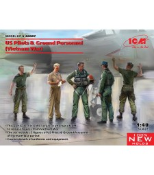 1:48 US Pilots & Ground Personnel (Vietnam War) (5 figures) (100% new molds)