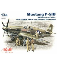 1:48 Mustang P-51B with USAAF Pilots and Ground Personnel
