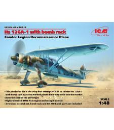 1:48 Hs 126A-1 with bomb rack, Condor Legion Reconnaissance Plane
