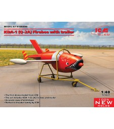 1:48 Q-2A (KDA-1) Firebee with trailer (1 airplane and trailer)