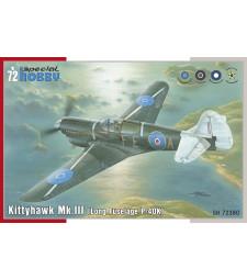 """1:72 Експортен вариант Kittyhawk Mk.III """"P-40 K Long Fuselage"""""""