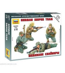 1:72 Германски снайперисти (GERMAN SNIPER TEAM) - 4 фигури, слогбка без лепило
