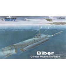 "1:72 Германска подводница-джудже Biber ""German Midget Submarine"""