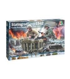1:72 Диорма: Битката за Сталинградския тракторен завод (Battleset: WWII STALINGRAD FACTORY) - комплект с фигури и модели