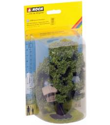 Дърво с къщичка в клоните - височина 15 см (H0)