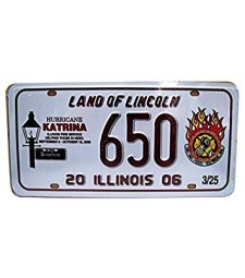 CAR PLATE - ILLINOIS - LAND OF LINCOLN (31 cm x 16 cm)