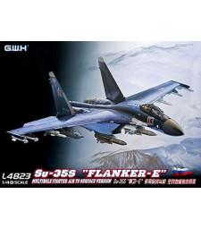 """1:48 Руски самолет Su-35S """"Flanker E"""", многофункционална версия на изтребител въздух-земя"""