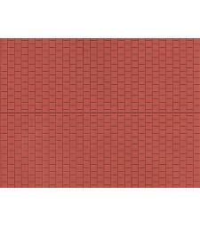 Червен паваж - пластмасова платка за декорация (1 бр. 100 x 200 mm)