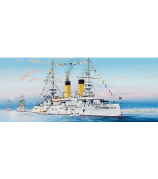 """1:350 Руски боен кораб """"Цесаревич"""" 1904 (Russian Navy Tsesarevich Battleship 1904) - с метална верига на котвата"""