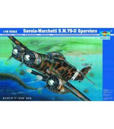 1:48 Италиански изтребител Савоя-Мачети СМ.79-II (Aircraft-Savoia Marchetti SM.79-II)