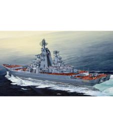 1:350 Руски тежък атомен ракетен крайцер Адмирал Лазарев (Russian cruiser Admiral Lazarev Ex-Frunze)