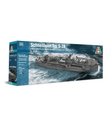 1:35 Германски военен кораб Шнелбот С-38 с оръдие Бофорс (TYP S-38 Schnellboot with Bofors)