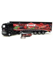 """Set Renault Magnum + Kronetrailer """"Kuhn"""" & Keyring trailer """"Kuhn"""