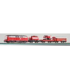 Противопожарен стартов сет с локомотив и 3 вагона, DB, епоха IV