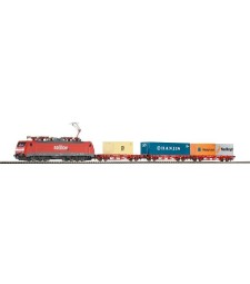 Дигитален стартов сет с локомотив BR 189 и три вагона за контейнери, SBB, епоха V