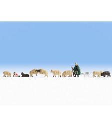 Овчар със стадо
