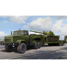 1:35 Украински военен камион КРАЗ-6446 с полуремарке МАЗ/ChMZAP-5247G (Ukraine KrAZ-6446 Tractor with MAZ/ChMZAP-5247G semitrailer)