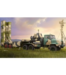 1:35 Руски военен влекач КРАЗ-260Б с 5П85ТЕ ТЕЛ С-300 (PMURussian KrAZ-260B Tractor with 5P85TE TEL S-300PMU)