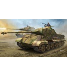 "1:35 Германски танк Sonderkraftfahrzeug 182 Кинг Тигър с купол Порше и цимерит (German Sonderkraftfahrzeug 182 King Tiger ""Porsche Turret"" with Zimmerit)"