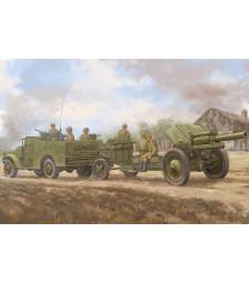 1:35 Комплект от влекач M3A1, късна версия и оръдие 122mm M-30 (M3A1 late version tow 122mm Howitzer M-30) - с метално оръдие