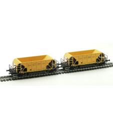 Товарни вагони за баласт на НКЖИ, комплект 2 броя, VI-та епоха