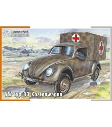 1:35 Военна линейка VW typ 83 Kastenwagen