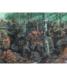 1:72 Германски пехотинци, Втора световна война (WWII-GERMAN ELITE TROOPS) - 48 фигури