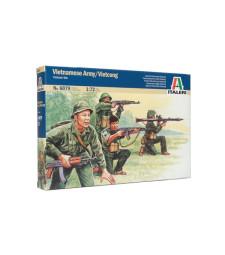 1:72 ДИОРАМА ВИЕТНАМСКАТА ВОЙНА: Виетнамска армия-Виетконг - 50 фигури