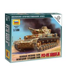 1:100 Германски среден танк Pz IV Ausf.D - сглобка без лепило