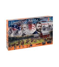 1:72 Бойна сцена: Битката при фермата - Американската гражданска война (FARMHOUSE BATTLE - American Civil War)