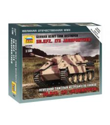 1:100 Германски танк Sonderkraftfahrzeug 173 JAGDPANTHER - сглобка без лепило