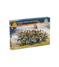 1:72 Британска колониална пехота от сепои (BRITISH OLONIAL INF. w/SEPOYS) - 50 фигури