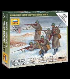 1:72 Съветска пехота (Зимна униформа) - 5 фигури - сглобка без лепило