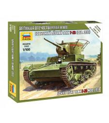 1:100 Съветски танк T-26 модел 1933 – сглобка без лепило