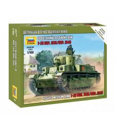 1:100 Съветски танк T-28 – сглобка без лепило