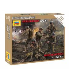 1:72 Американски пехотинци 1941-1945 – сглобка без лепило