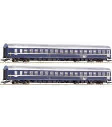 Сет от два спални вагона модел T2S на Швейцарските федерални железници (SBB), епоха IV