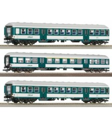 Сет от три четириосни вагона на Люксембургските държавни железници (CFL), епоха V