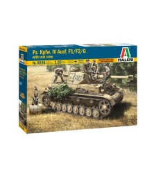 1:35 Германски танк Panzerkampfwagen IV Ausf.F1/F2/G, ранна версия, с екипеж (Panzerkampfwagen IV Ausf.F1/F2/G Early with rest crew) - 5 фигури