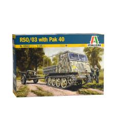 1:35 Германски верижен влекач РСО/03 с противотанково оръдие ПАК 40 RSO/03 with PAK 40