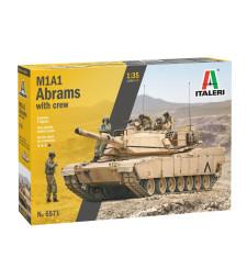 1:35 Американски основен танк M1A2 ABRAMS с екипаж - 5 фигури
