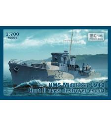 1:700 Ескортен кораб HMS Middleton 1943 Hunt II class destroyer escort