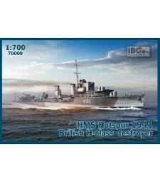 1:700 Британски разрушител HMS Hotspur 1941 British H-class destroyer
