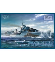 1:700 Британски разрушител HMS Ithuriel 1942 British I-Class Destroyer