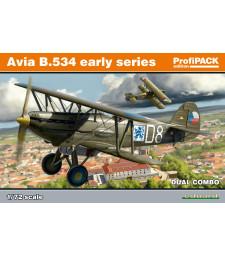1:72 Чехословашки изтребител-биплан Avia B-534, ранна серия - DUAL COMBO - Специално издание от два модела